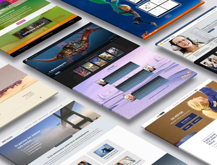 Moderne og mobilvenligt hjemmesidedesign