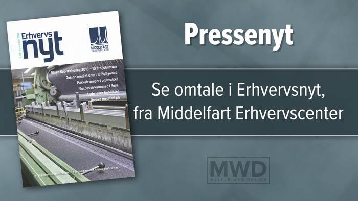 Melfar Web Design omtalt i Erhvervsnyt fra Middelfart Erhervscenter