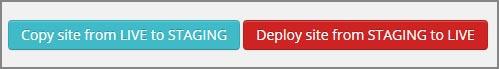 Staging push/pull knapper fra WP-Engine